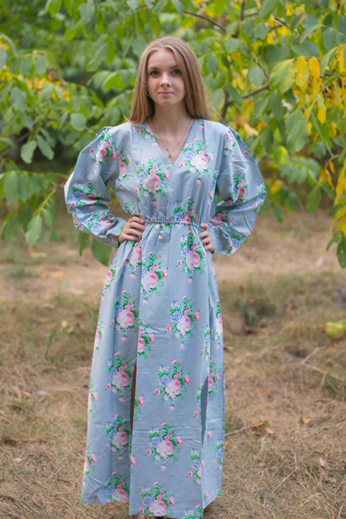 """Shape Me Pretty"" kaftan in Pink Peonies pattern"