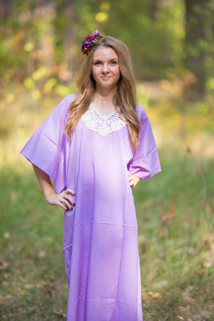 """""""Luscious Lace"""" kaftan in Lilac Ivory"""