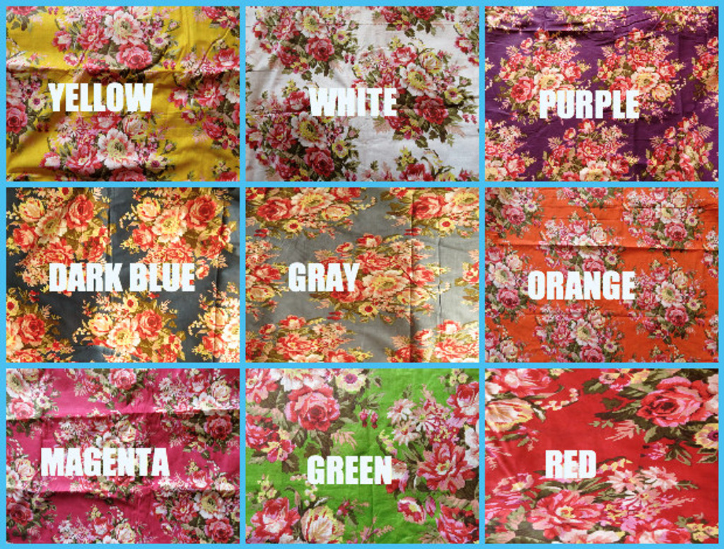 Rosy Red Posy pattern