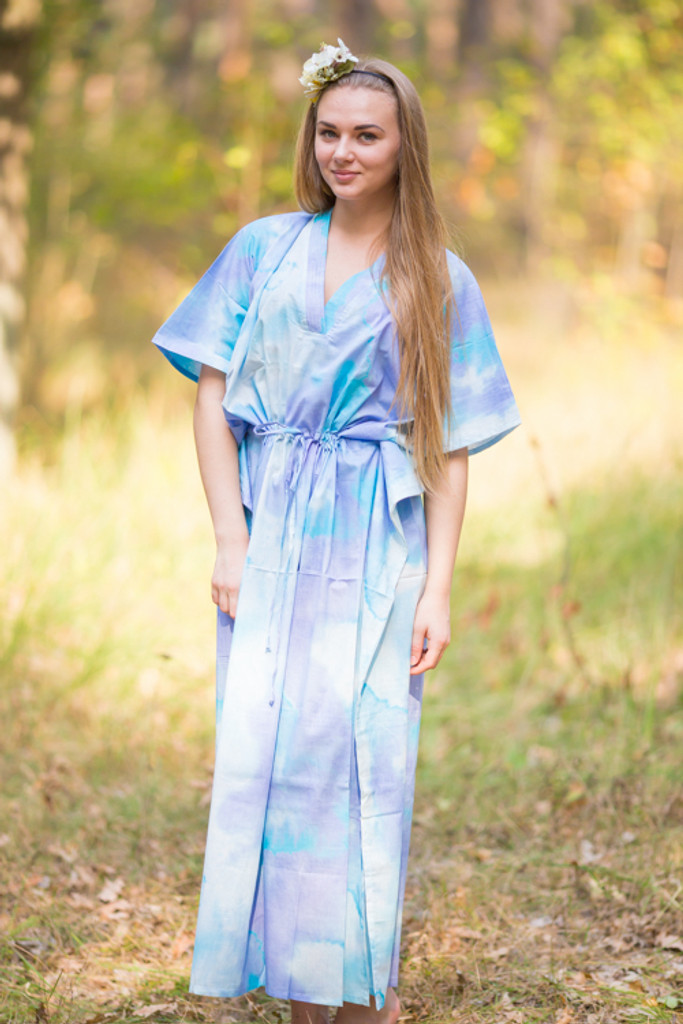 """The Drop-Waist"" kaftan in Batik Watercolor pattern"