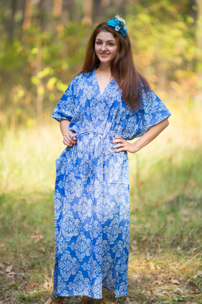 """The Drop-Waist"" kaftan in Damask pattern"