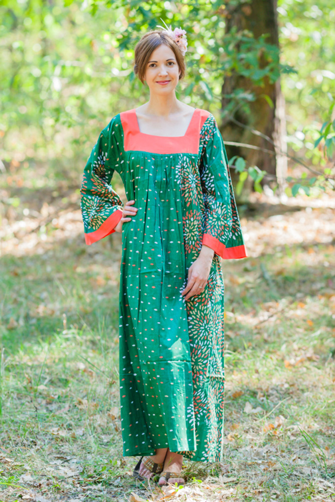 """""""Fire Maiden"""" kaftan in Abstract Florals pattern"""