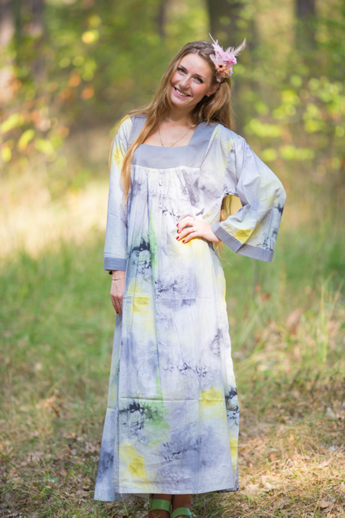 """Fire Maiden"" kaftan in Watercolor Splash pattern"