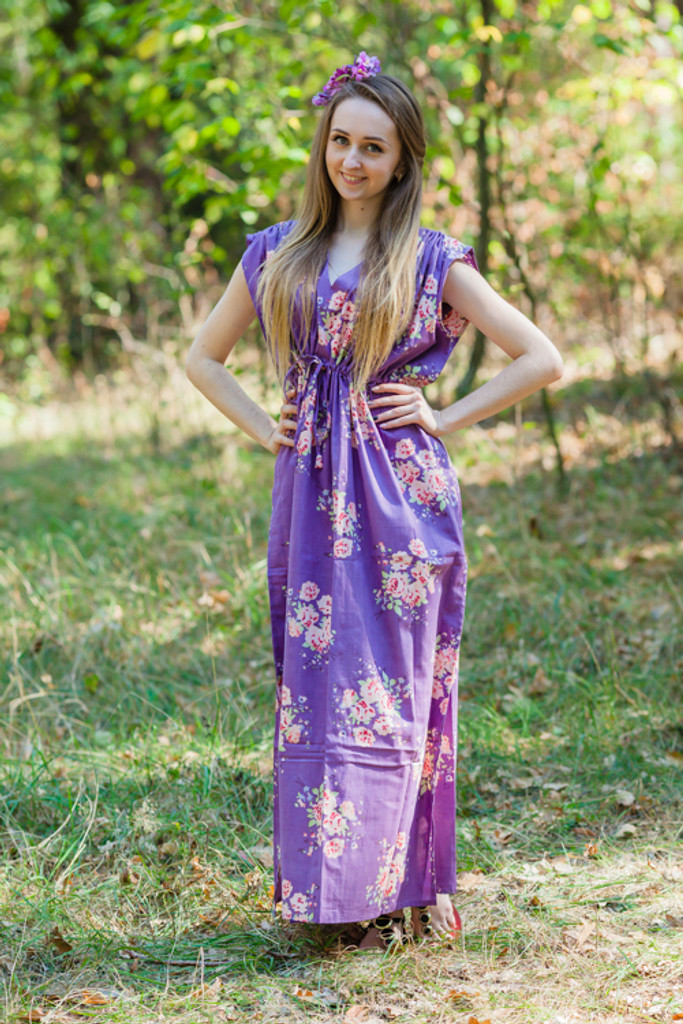 """Magic Sleeves"" kaftan in Faded Flowers pattern"