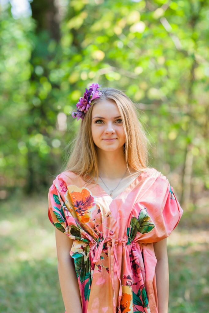 """""""Magic Sleeves"""" kaftan in Large Floral Blossom pattern"""