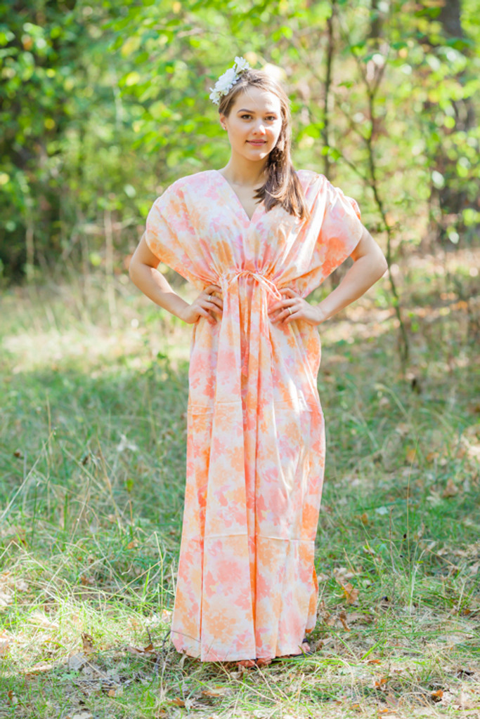 """""""Magic Sleeves"""" kaftan in Ombre Fading Leaves pattern"""