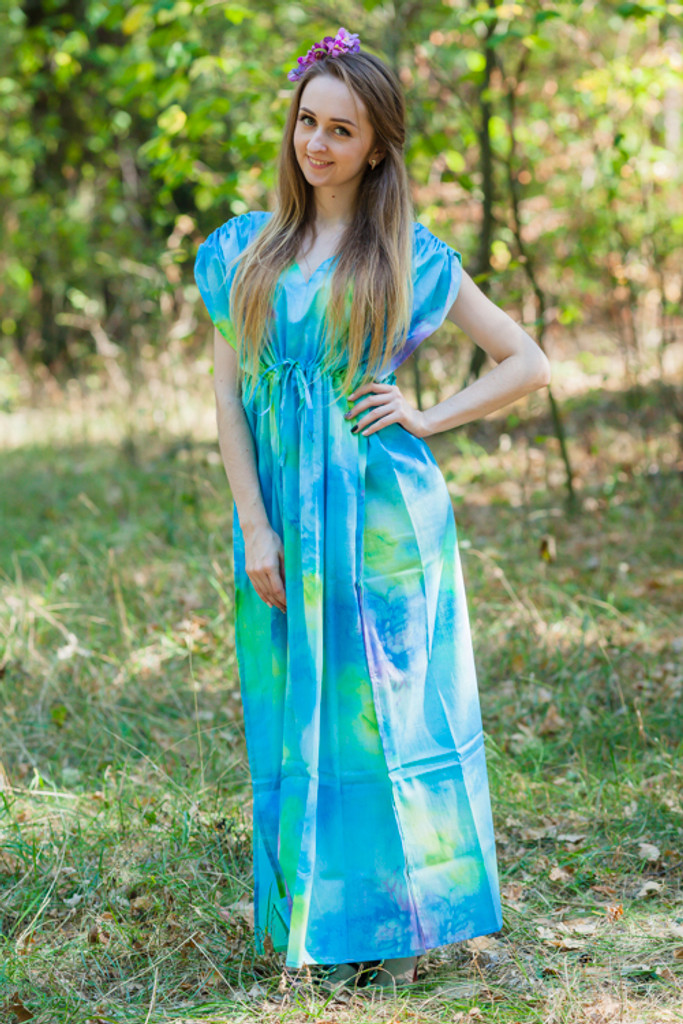 """Magic Sleeves"" kaftan in Watercolor Splash pattern"