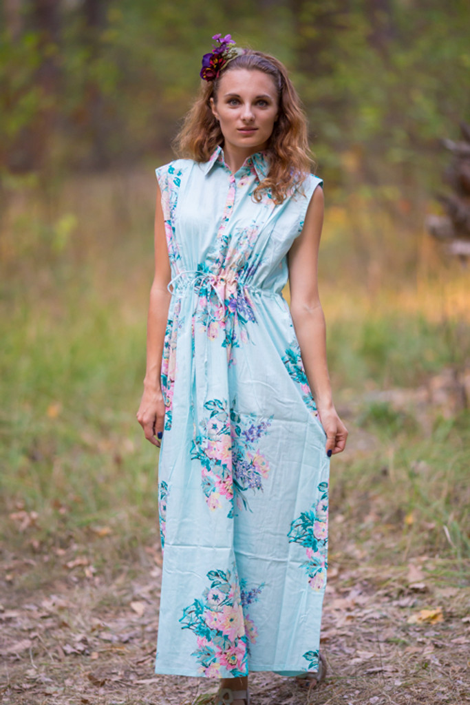 """Cool Summer"" kaftan in Blooming Flowers pattern"