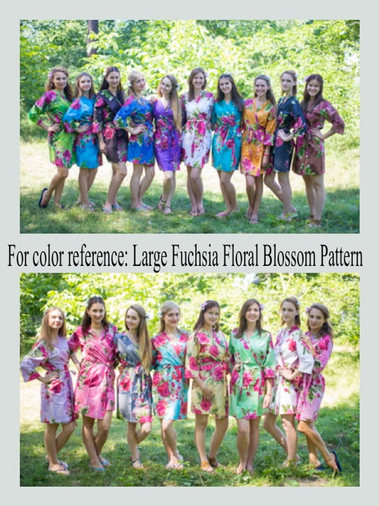 Large Fuchsia Floral Blossom pattern