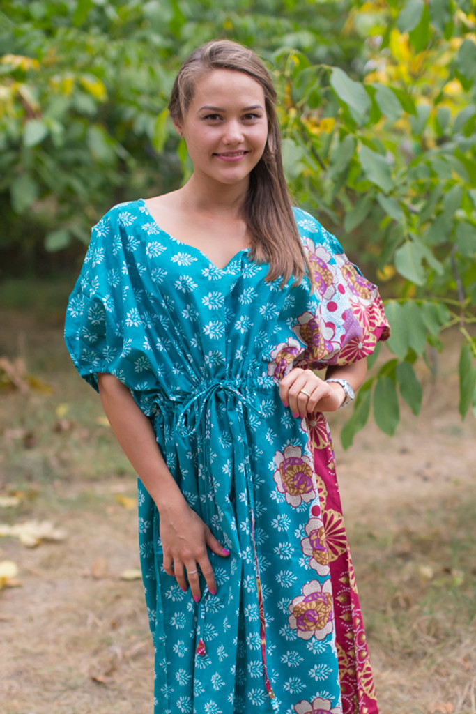 """""""Cut-out Cute"""" kaftan in Floral Bordered pattern"""
