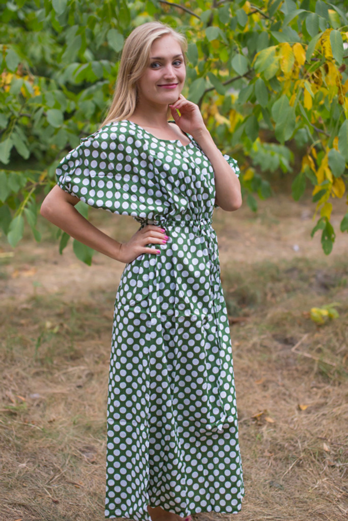 """Cut-out Cute"" kaftan in Polka Dots pattern"
