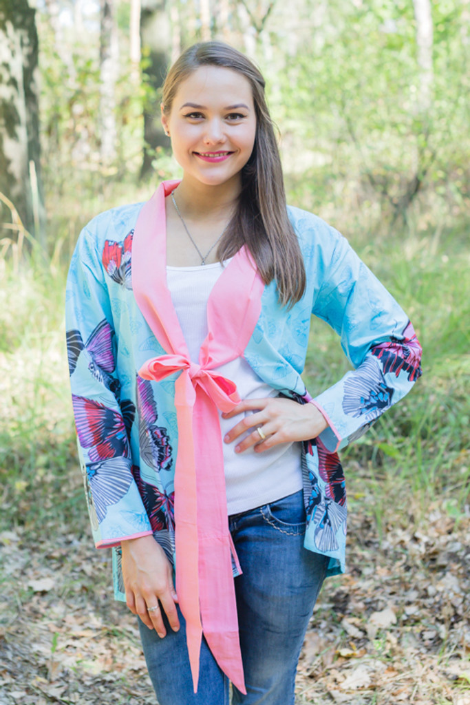 """""""Bow and Me"""" Kimono jacket in Butterfly Baby pattern"""