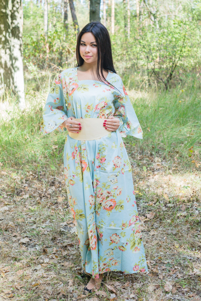 """Beauty, Belt and Beyond"" kaftan in Flower Rain pattern"