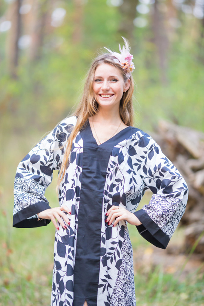 """""""The Glow Within"""" kaftan in Classic White Black pattern"""