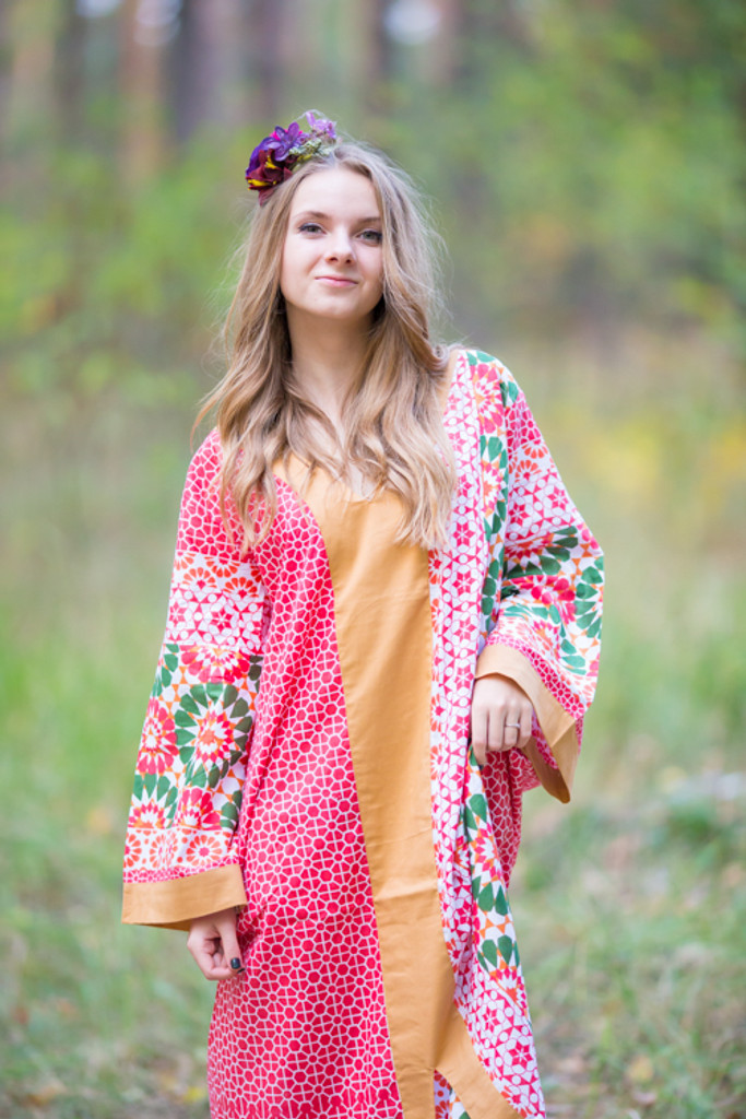 """""""The Glow Within"""" kaftan in Round and Round pattern"""
