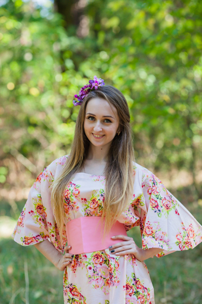 """""""Beauty, Belt and Beyond"""" kaftan in Floral Posy."""