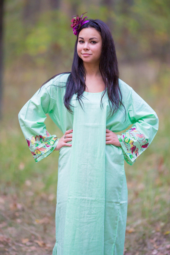 """The Unwind"" kaftan in Little Chirpies pattern"