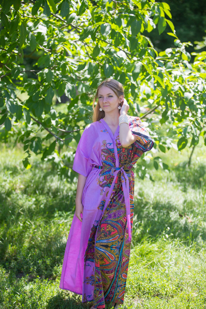 """""""Best of both the worlds"""" kaftan in Cheerful Paisleys pattern"""