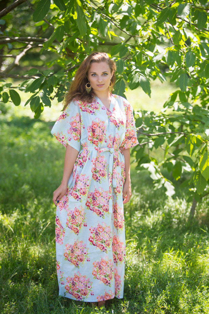 """""""Best of both the worlds"""" kaftan in Floral Posy pattern"""