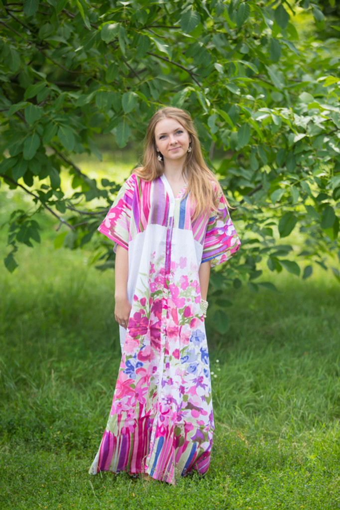 """""""Best of both the worlds"""" kaftan in Floral Watercolor Painting pattern"""