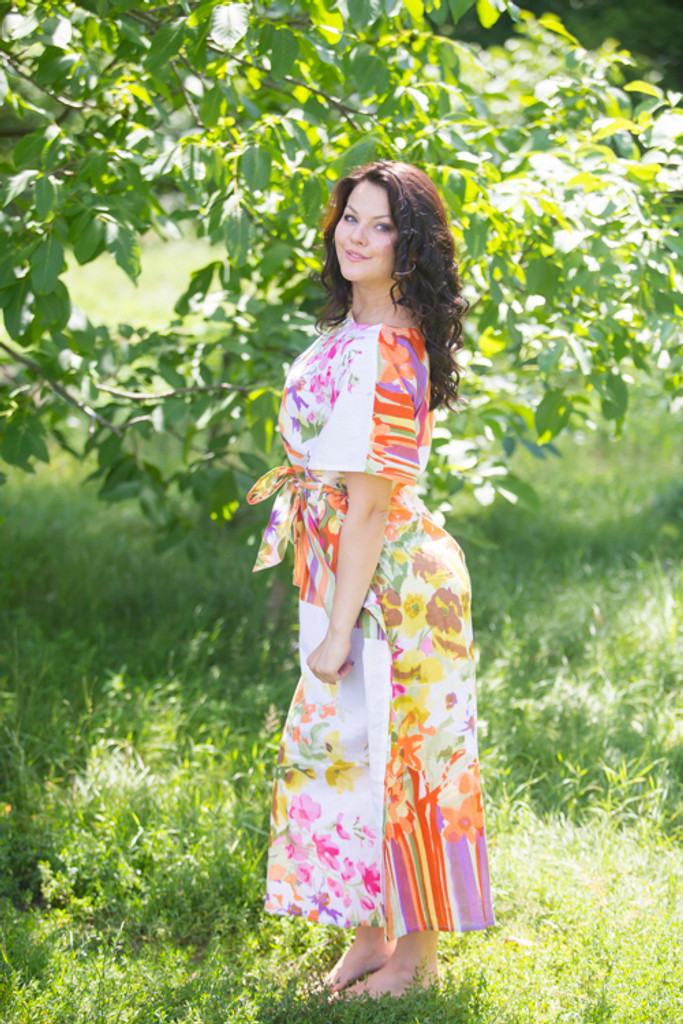 """Divinely Simple"" kaftan in Floral Watercolor Painting pattern"