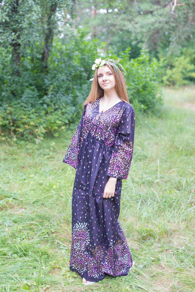 """""""Button me down"""" kaftan in Abstract Floral pattern"""