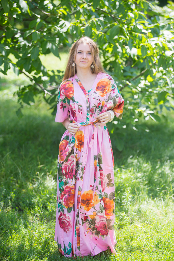 """Best of both the worlds"" kaftan in Large Floral Blossom pattern"
