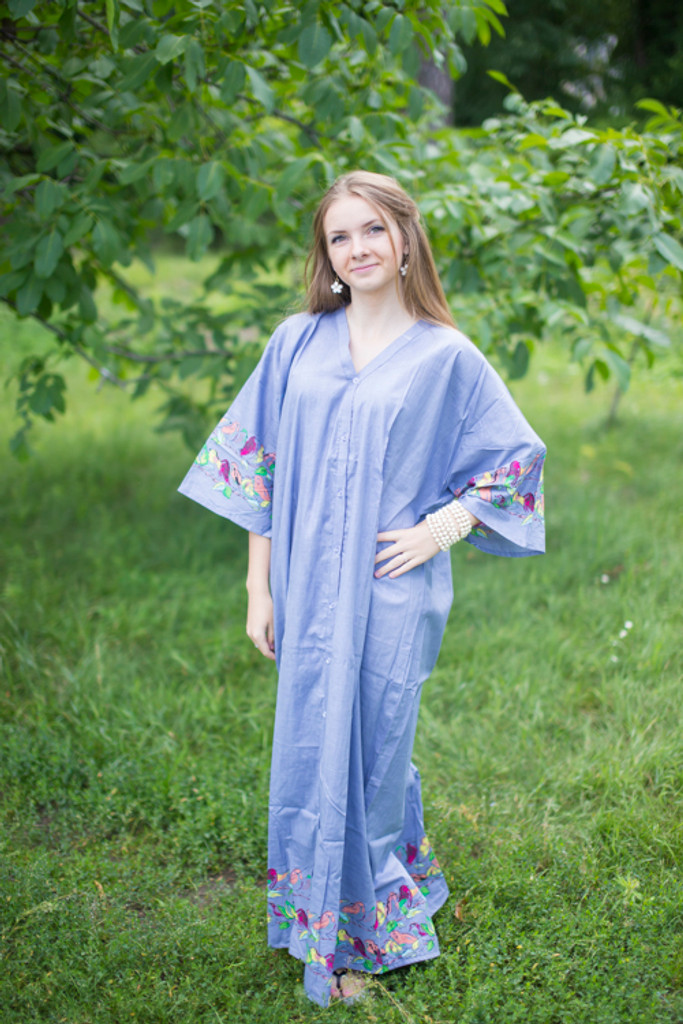"""""""Best of both the worlds"""" kaftan in Little Chirpies pattern"""