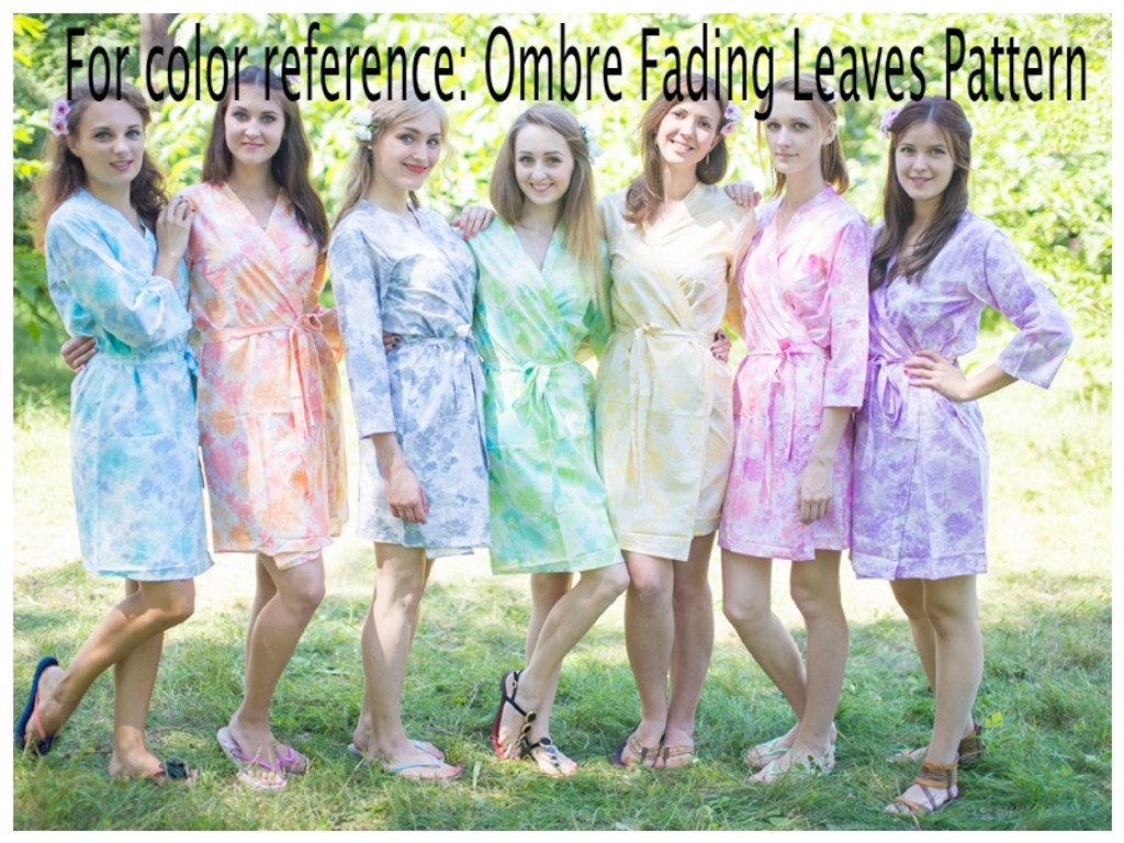 """""""Best of both the worlds"""" kaftan in Ombre Fading Leaves pattern"""