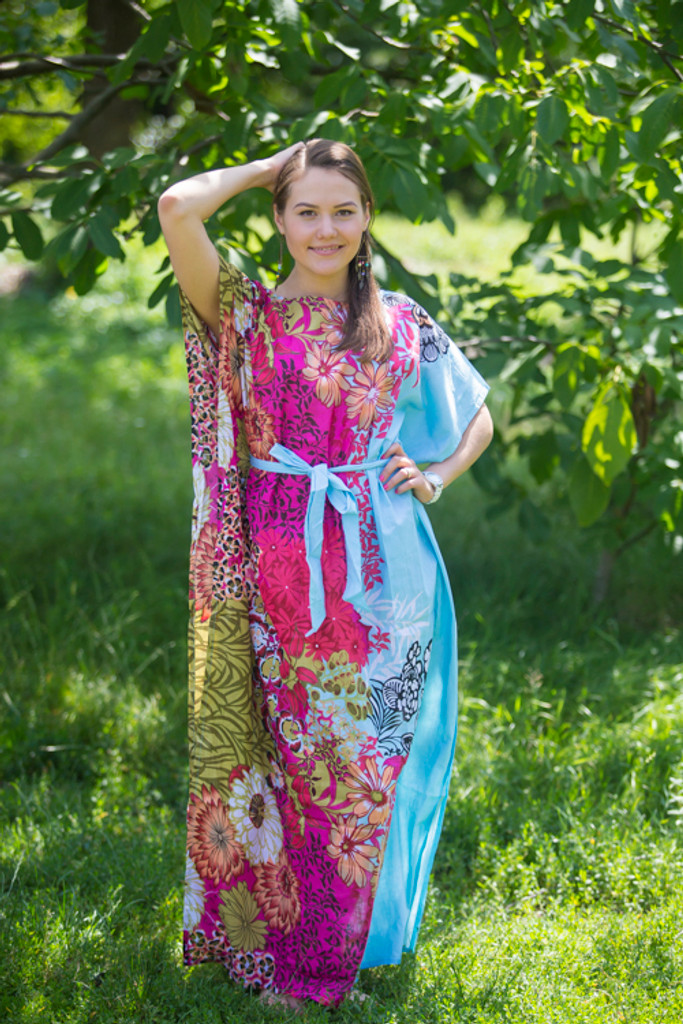 """""""Divinely Simple"""" kaftan in Vibrant Foliage pattern"""