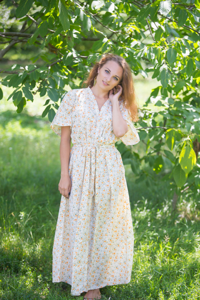"""""""Best of both the worlds"""" kaftan in Starry Floral pattern"""