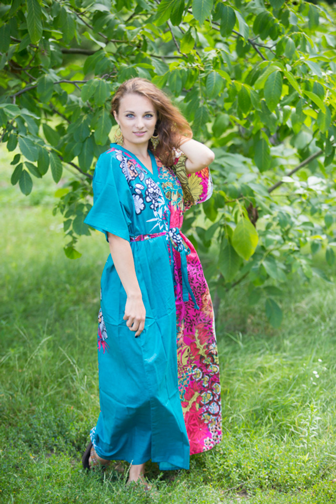 """""""Best of both the worlds"""" kaftan in Vibrant Foliage pattern"""