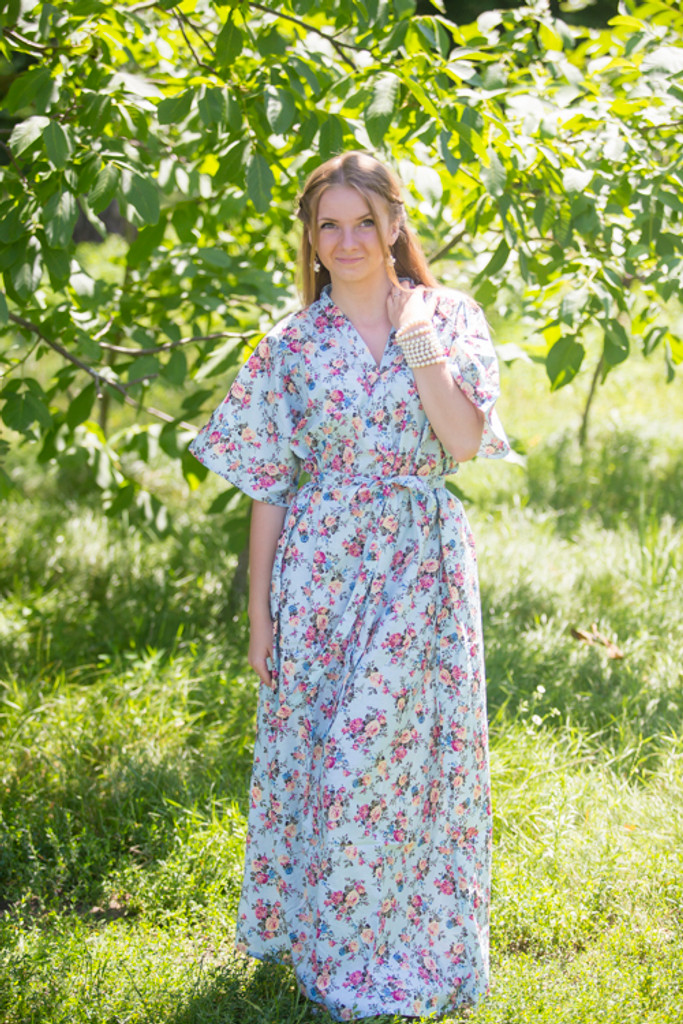 """""""Best of both the worlds"""" kaftan in Vintage Chic Floral pattern"""