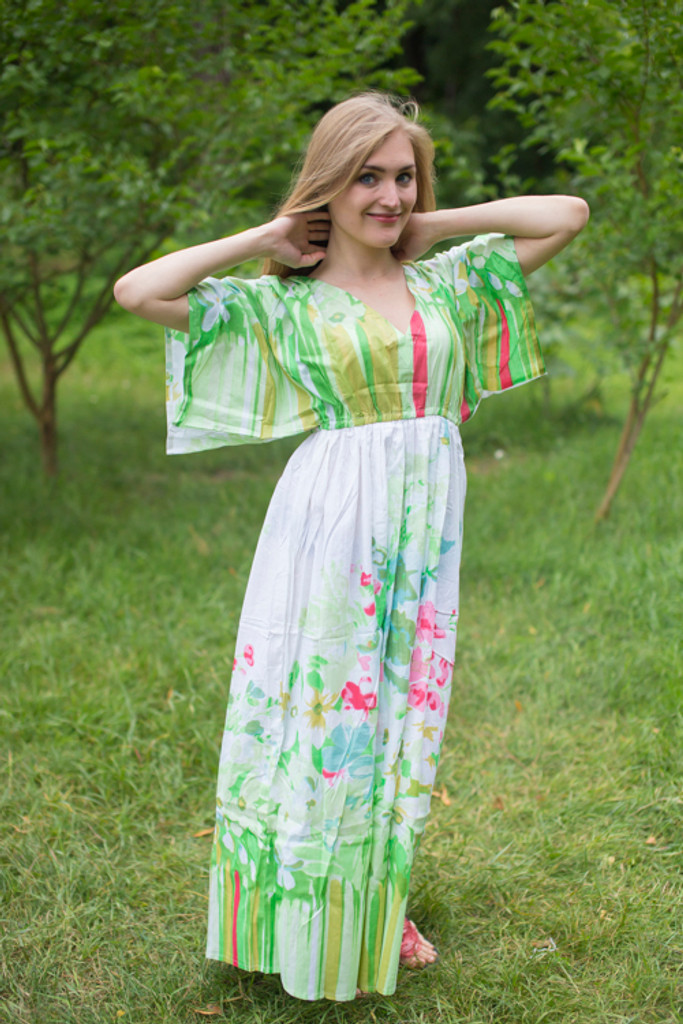 """""""I wanna Fly"""" kaftan in Floral Watercolor Painting pattern"""