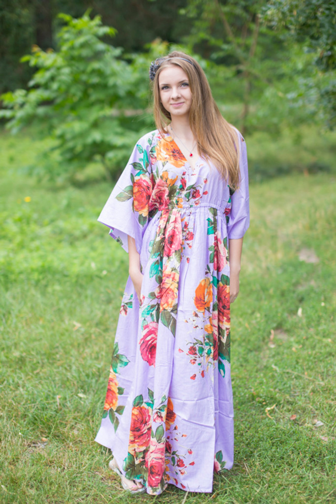 """""""I wanna Fly"""" kaftan in Large Floral Blossom pattern"""