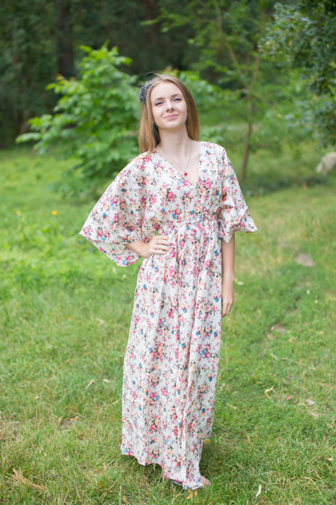 """""""I wanna Fly"""" kaftan in Vintage Chic Floral pattern"""