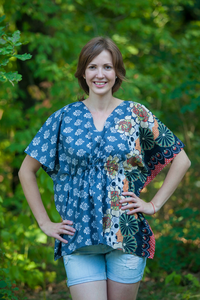 """""""Timeless"""" kaftan Top in Floral Bordered pattern"""
