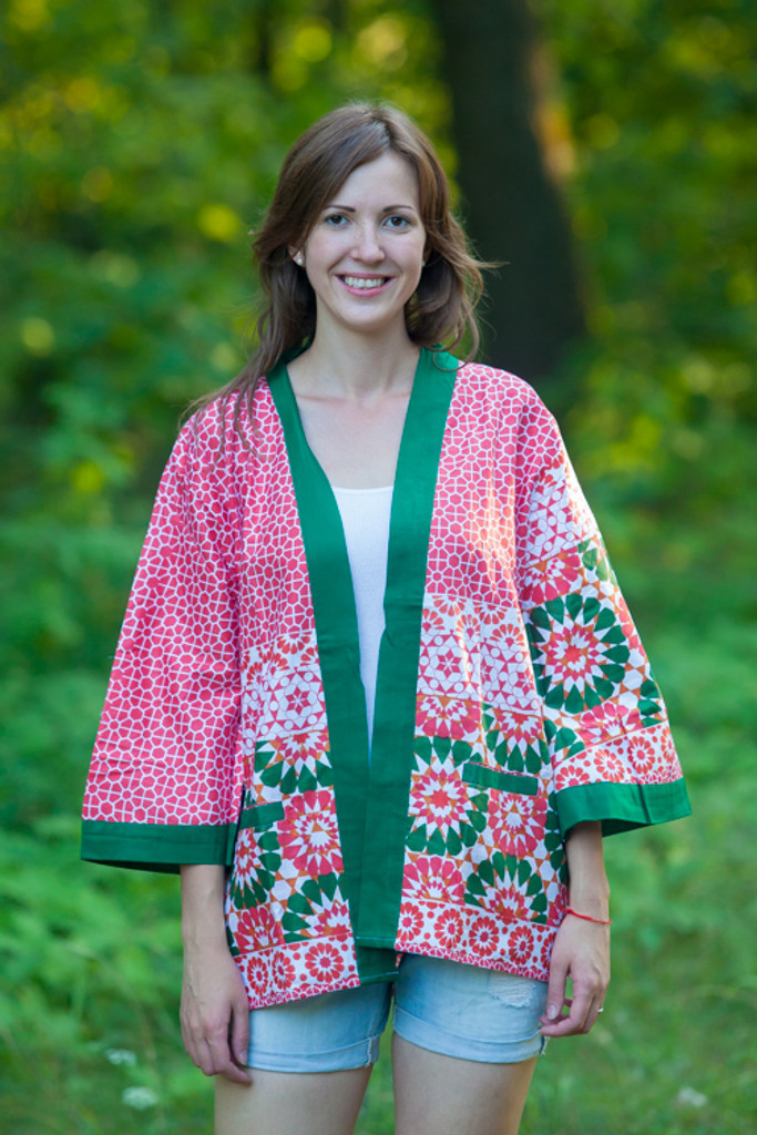 """Street Style"" Kimono jacket in Round and Round pattern"