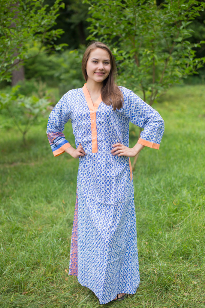 """Simply Elegant"" kaftan in Geometric Chevron pattern"