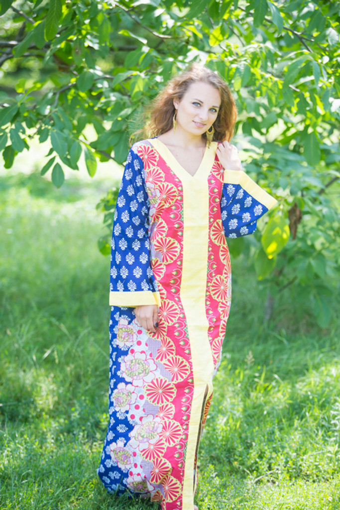 """""""The Glow Within"""" kaftan in Floral Bordered pattern"""