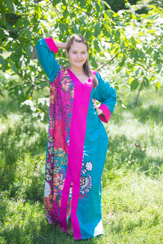 """""""The Glow Within"""" kaftan in Vibrant Foliage pattern"""