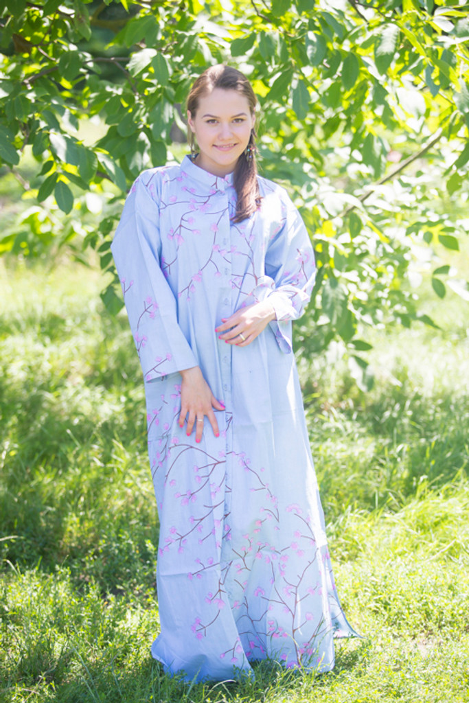 """""""Charming Collars"""" kaftan in Cherry Blossoms pattern"""