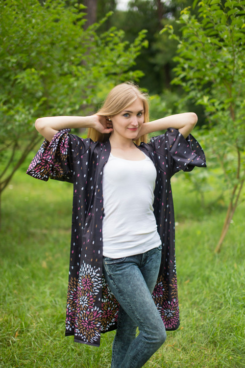 """Free Bird"" Kimono jacket in Abstract Floral pattern"