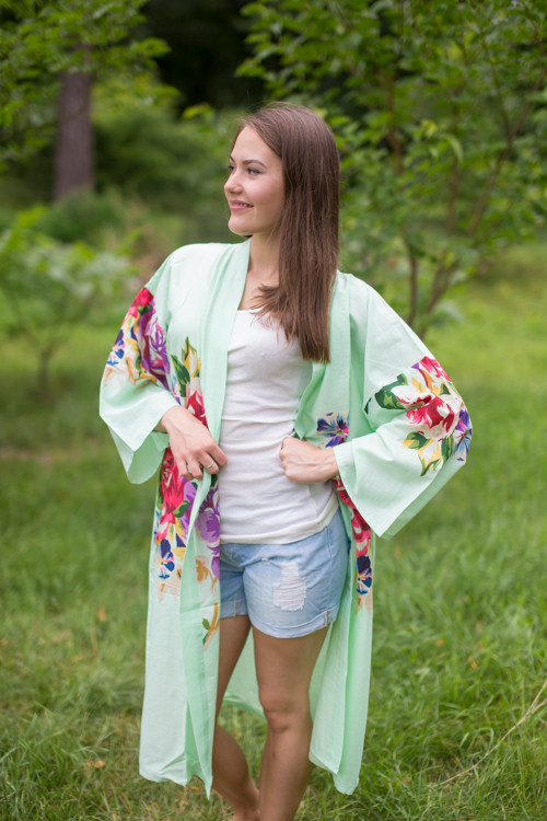 """Free Bird"" Kimono jacket in One Long Flower pattern"