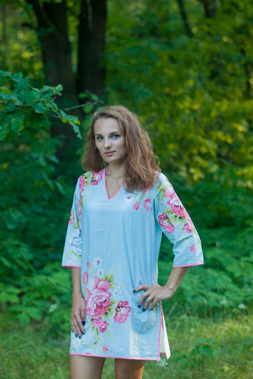 """""""Sun and Sand"""" Beach Tunic in Cabbage Roses pattern"""