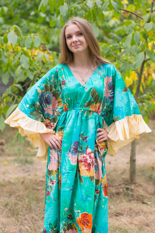 """Pretty Princess"" kaftan in Large Floral Blossom pattern"
