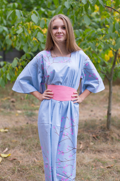 """Beauty, Belt and Beyond"" kaftan in Cherry Blossoms pattern"