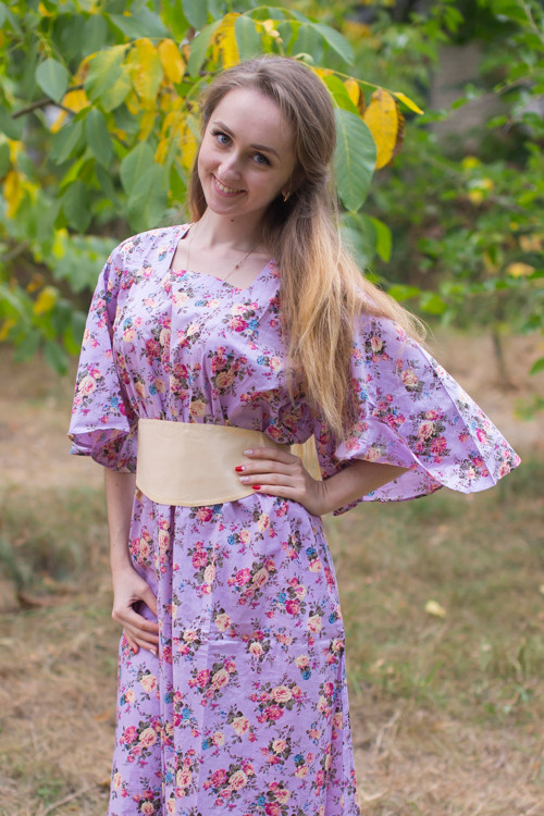 """Beauty, Belt and Beyond"" kaftan in Vintage Chic Floral pattern"