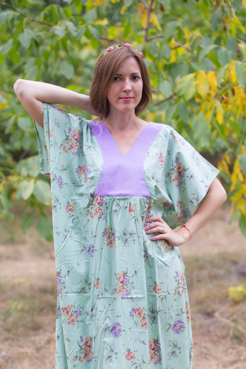 """Flowing River"" kaftan in Romantic Florals pattern"