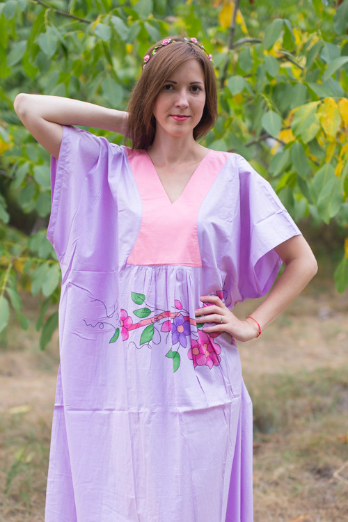"""Flowing River"" kaftan in Swirly Floral Vine pattern"